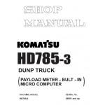 راهنمای تعمیر دامپتراک کوماتسو مدل HD785-3