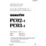 راهنمای تعمیر بیل مکانیکی کوماتسو مدل PC02-1 PC03-1