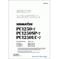 راهنمای تعمیر بیل مکانیکی کوماتسو مدل pc1250-7