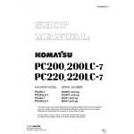 راهنمای تعمیر بیل مکانیکی کوماتسو مدل PC200-7, PC200LC-7, PC220-7, PC220LC-7